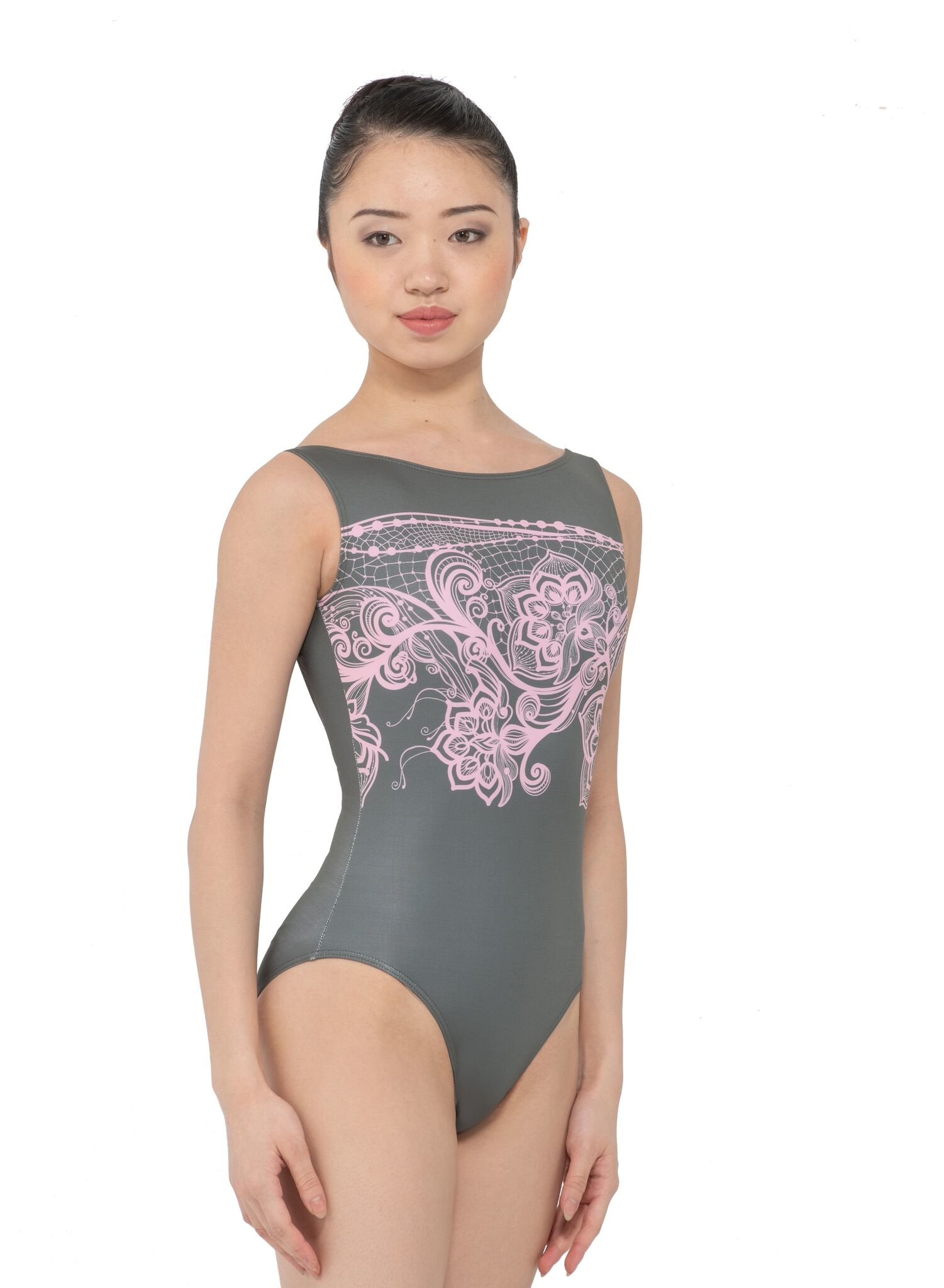 bef317ac8c24 Ines Boat Neck Low Back Leotard - Allegro Dance Boutique