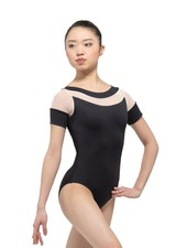Ballet Rosa Louise Round Neck Mesh Panel Leotard