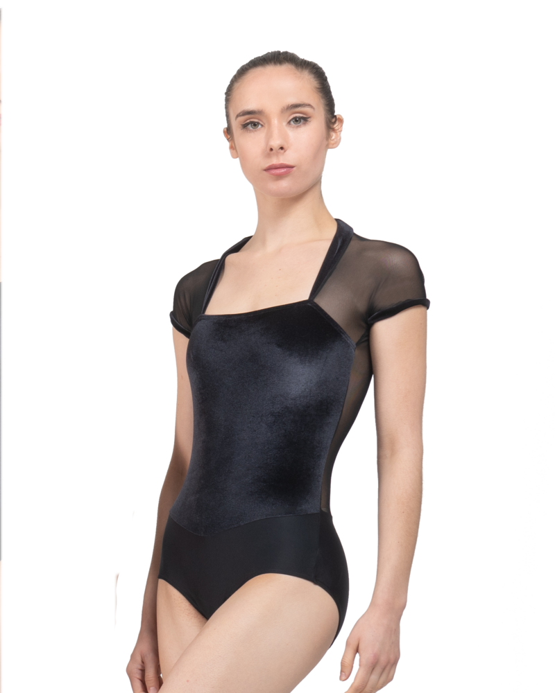 Ballet Rosa Vamp Short Sleeve Leotard