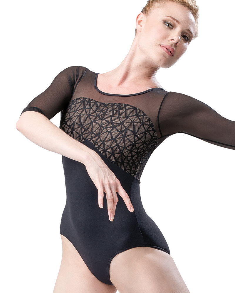 So Danca Half Sleeve Mesh Leotard