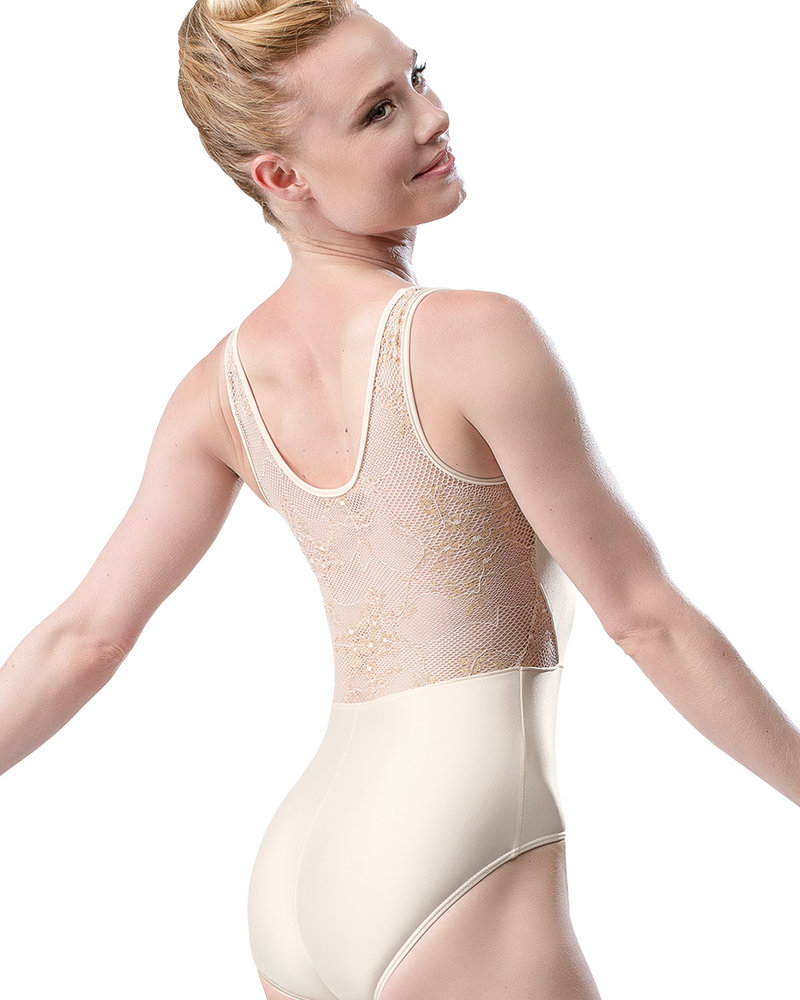 So Danca Lace Side Cut Out Tank Leotard