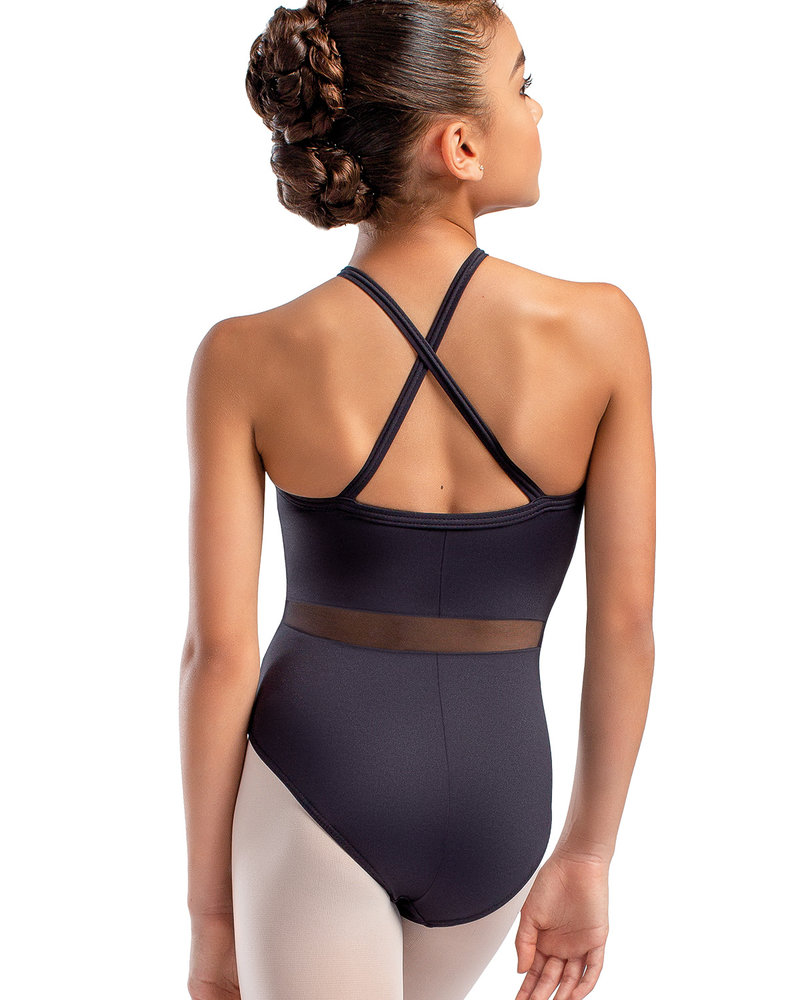 So Danca Child Cross Back Mesh Middle Camisole Leotard