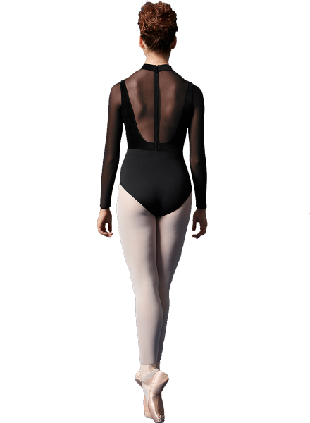 Bloch/Mirella/Leo Inc. Zip Back Mesh Sleeve Leotard