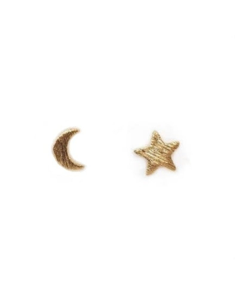 Moon & Star Stud Earrings
