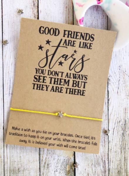 Good Friends Are Like Stars Wish Bracelet