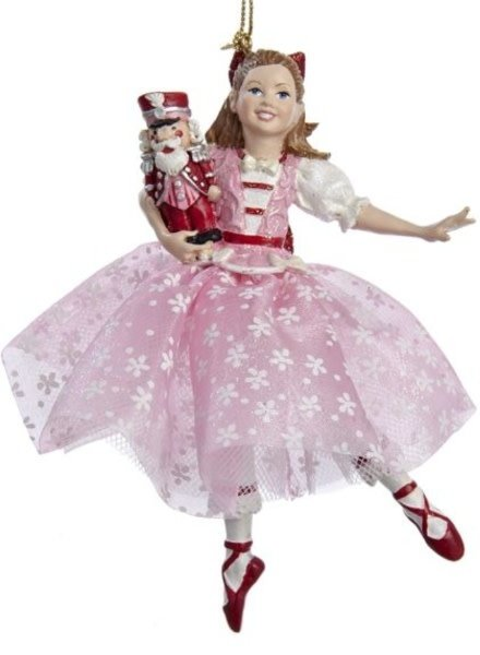 "5"" Dancing Clara with Red Shoes Ornament"