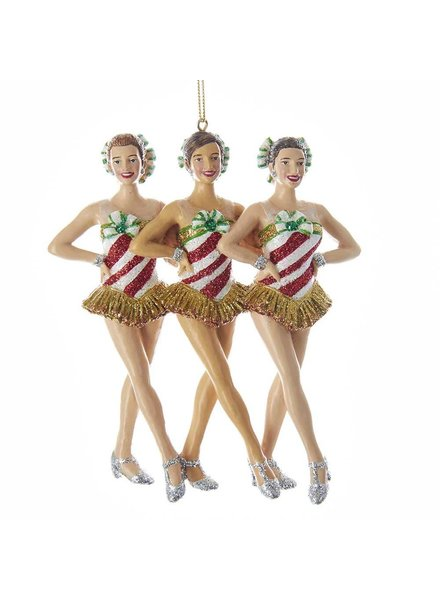 "7"" Rockettes™ Kick Line Ornament"