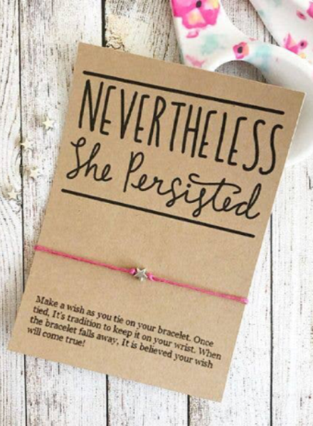 Nevertheless She Persisted Wish Bracelet