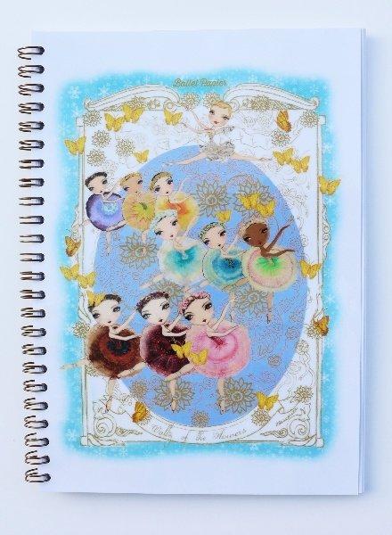 Ballet Papier Nutcracker Ballet Waltz of the Flowers A5 Spiral Notebook