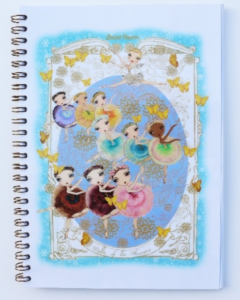 Ballet Papier Nutcracker Ballet Waltz of the Flowers A5 Spiral Notebook