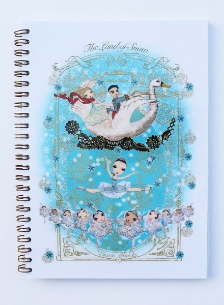 "Ballet Papier Nutcracker Ballet ""The Land of Snow"" A5 Spiral Notebook"