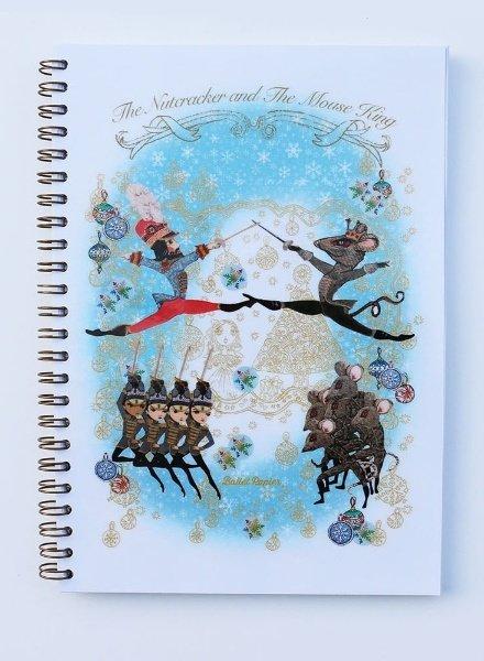 """Ballet Papier Nutcracker Ballet """"Nutcracker & Mouse King"""" A5 Spiral Notebook"""