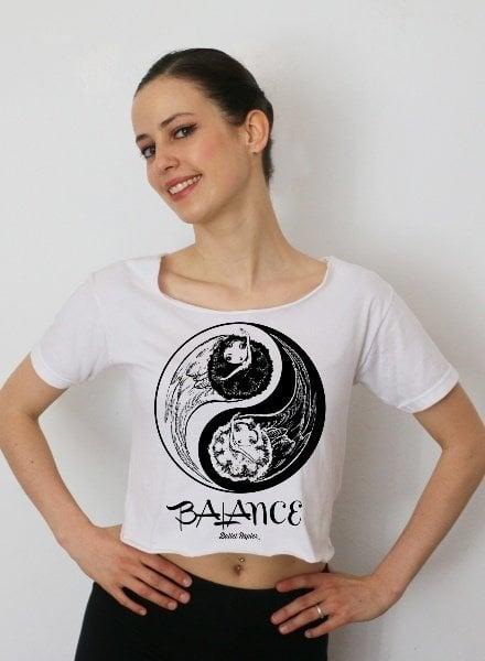 Ballet Papier Balance Cropped T-Shirt