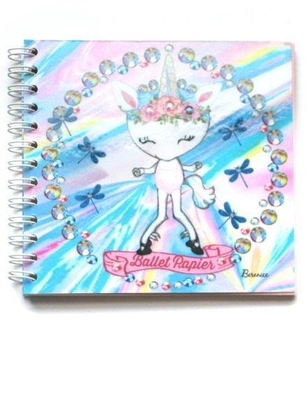 Ballet Papier Rainbow Unicorn Square Spiral Notebook