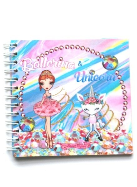 Ballet Papier Ballerina & Unicorn Square Spiral Notebook