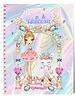 Ballet Papier Ballerina & Unicorn in Archway Spiral Notebook