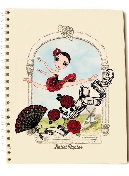 Ballet Papier Kitri Love Spiral Notebook