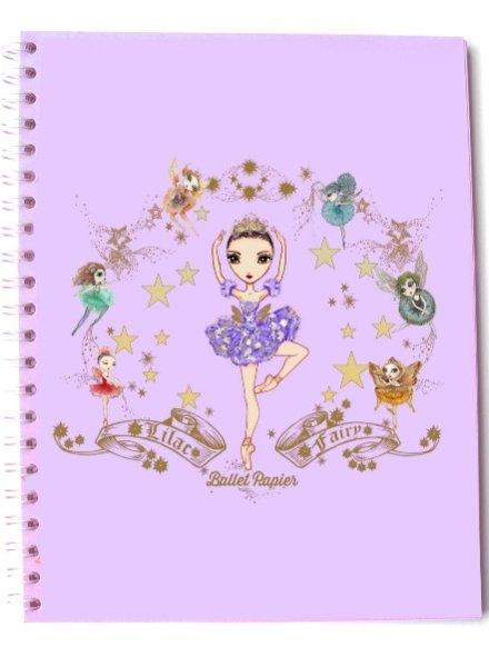 Ballet Papier Lilac Fairy Spiral Notebook