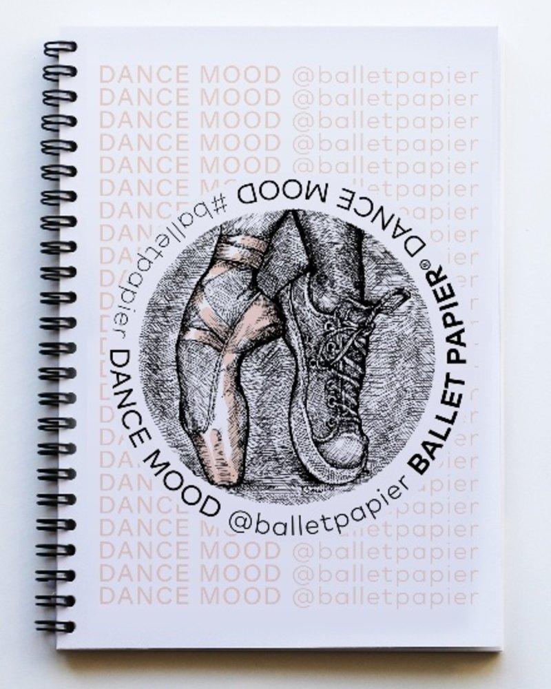 Ballet Papier Ballet Student Dance Mood A5 Spiral Notebook