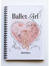 """Ballet Papier Ballet Student """"Ballet Girl"""" A5 Spiral Notebook"""