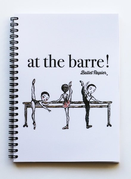 "Ballet Papier Ballet Student ""At the Barre!"" A5 Spiral Notebook"