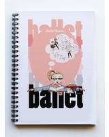 Ballet Papier Ballet Student Dance Equations A5 Spiral Notebook