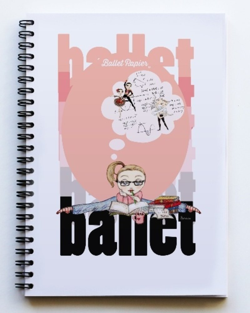 Ballet Papier Ballet Student Dance Equations A5 Spiral Notebook