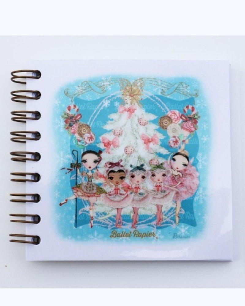 Ballet Papier Nutcracker Ballet Marzipan Shepherdess Square Spiral Notebook