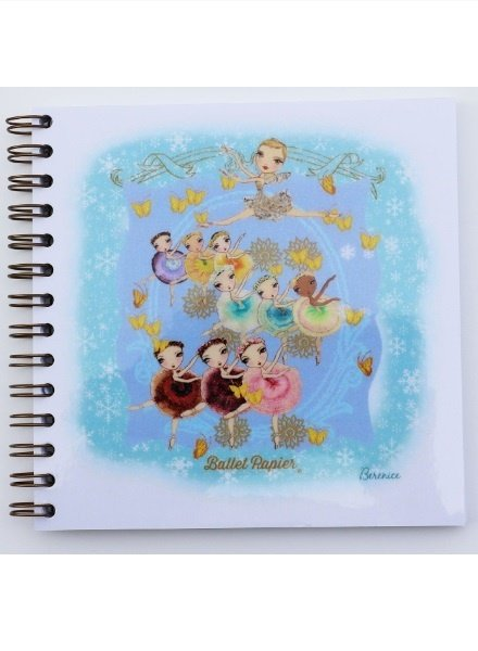 Ballet Papier Nutcracker Ballet Waltz of the Flowers Square Spiral Notebook