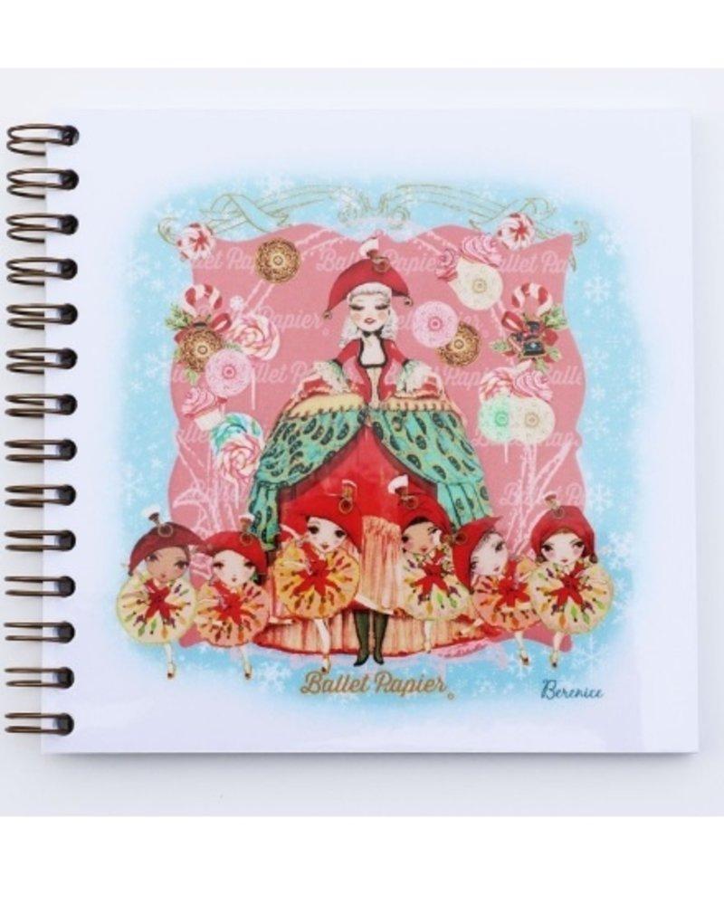 Ballet Papier Nutcracker Ballet Mother Ginger Square Spiral Notebook