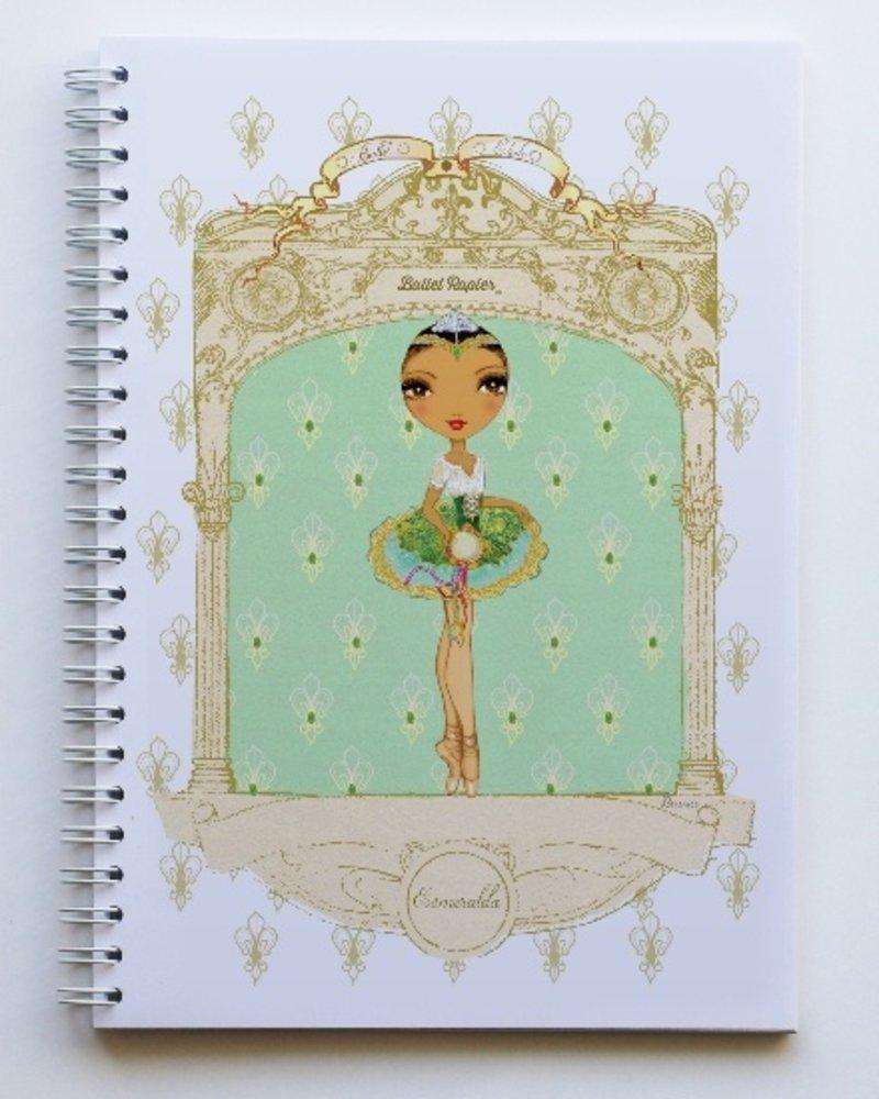Ballet Papier Ballet Étoiles Esmeralda A5 Spiral Notebook