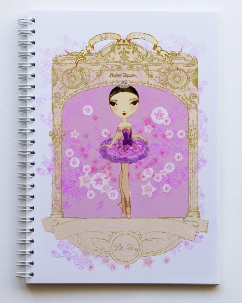 Ballet Papier Ballet Étoiles Lilac Fairy A5 Spiral Notebook