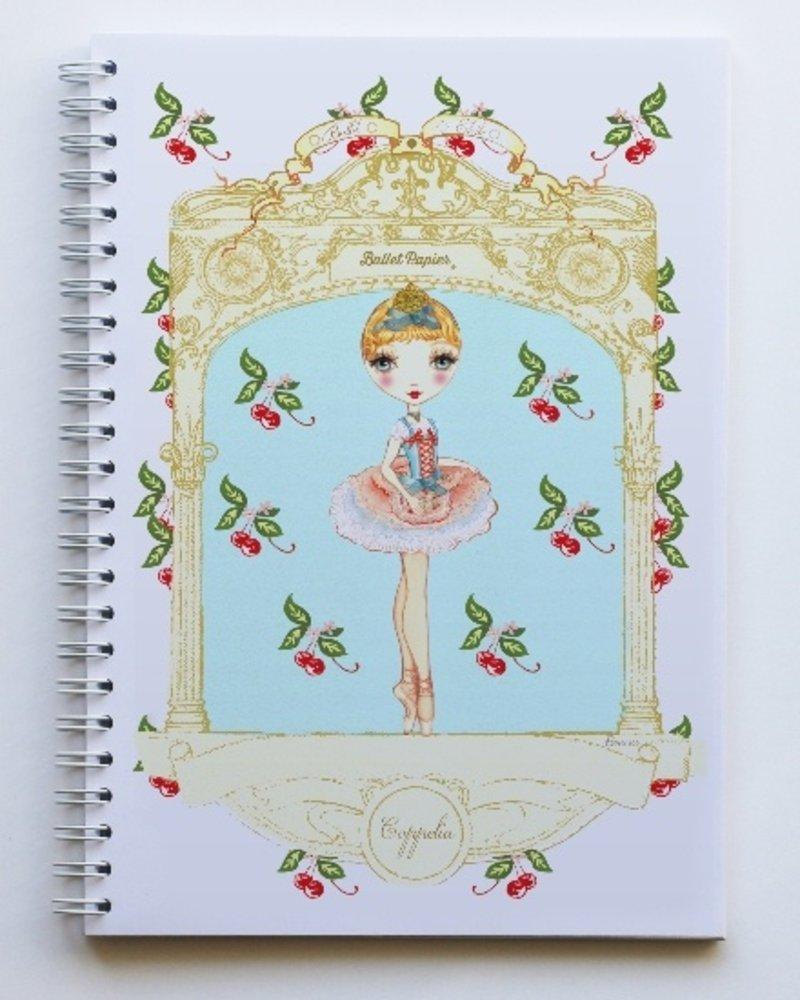 Ballet Papier Ballet Étoiles Coppelia A5 Spiral Notebook