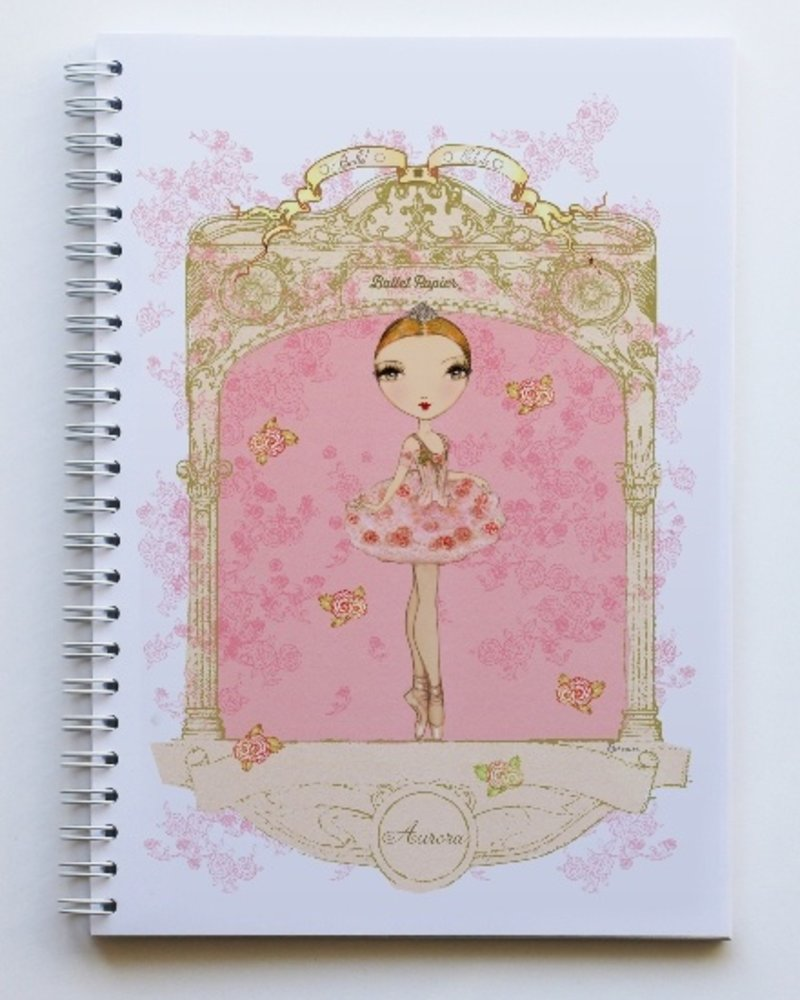 Ballet Papier Ballet Étoiles Aurora A5 Spiral Notebook