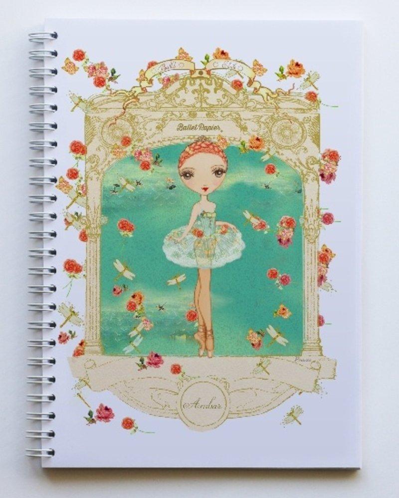 Ballet Papier Ballet Étoiles Ambar A5 Spiral Notebook