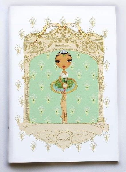 Ballet Papier Ballet Étoiles Esmeralda A4 Notebook