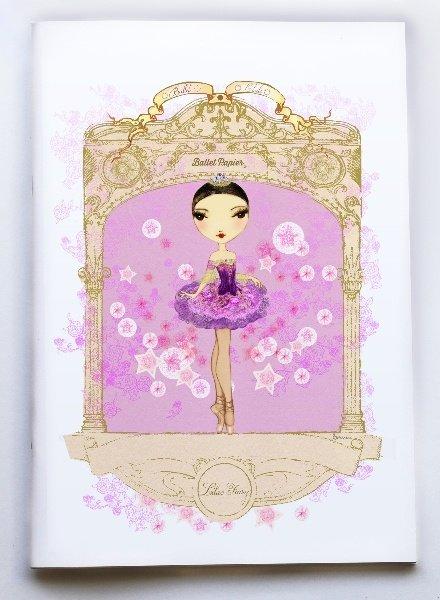 Ballet Papier Ballet Étoiles Lilac Fairy A4 Notebook