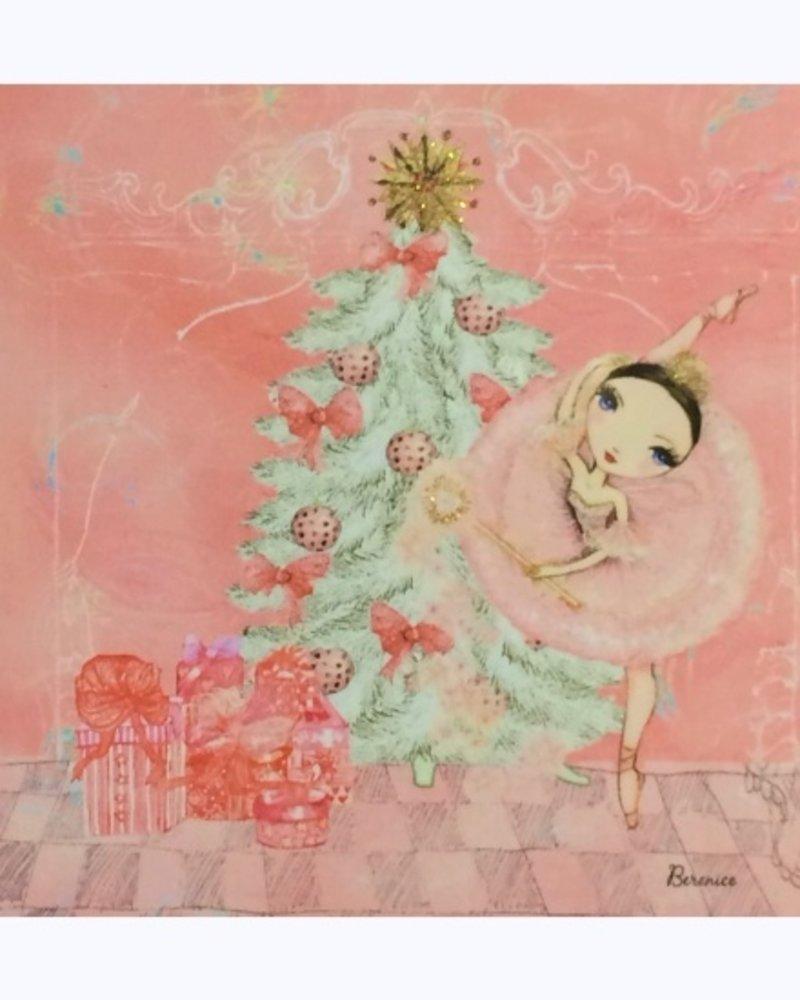 Ballet Papier Pink Sugar Plum Fairy Greeting Card