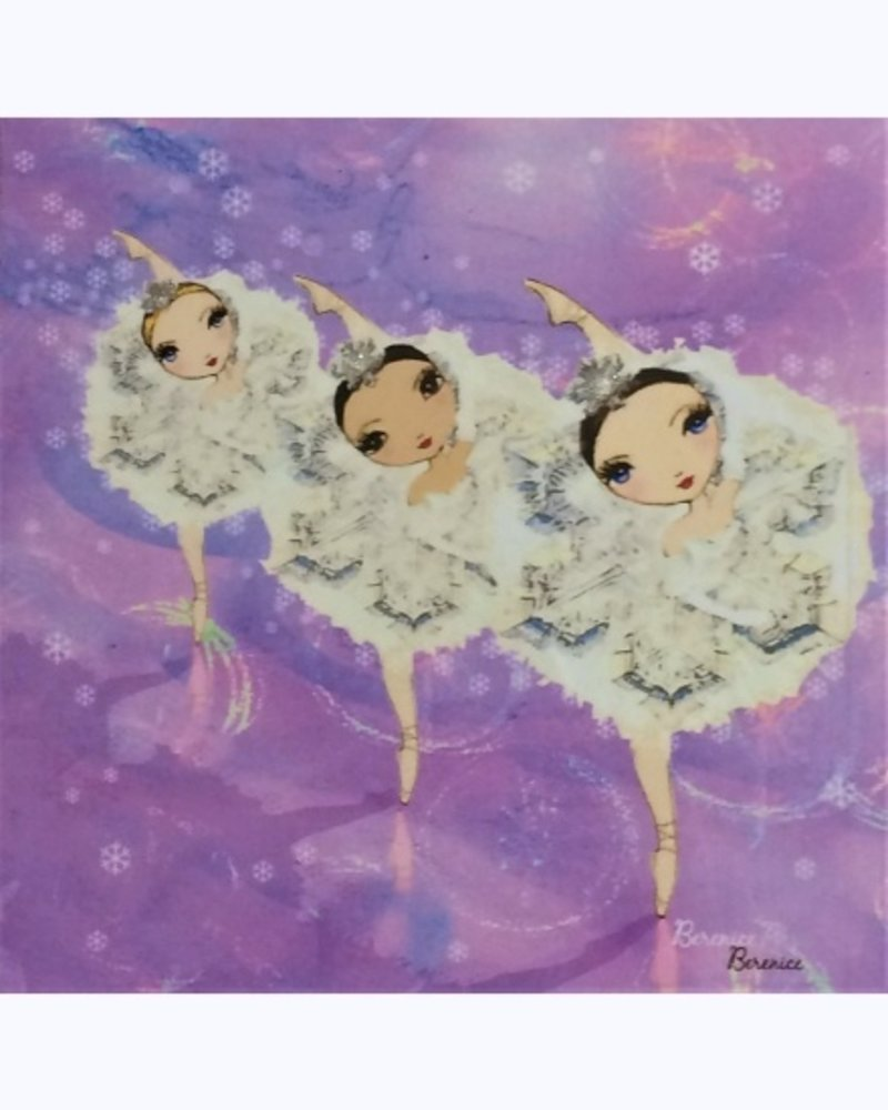 Ballet Papier Snowflake Corps de Ballet Greeting Card