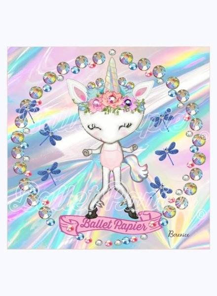 Ballet Papier Rainbow Unicorn Greeting Card