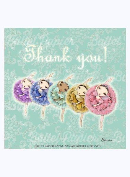 Ballet Papier Thank You!  Corps de Ballet Card