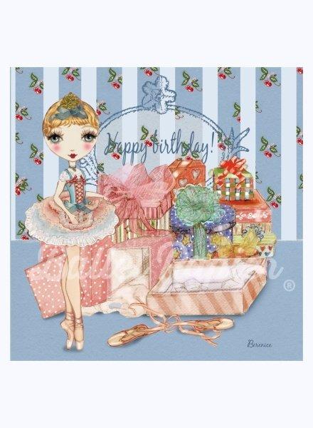 Ballet Papier Happy Birthday! Ballerina & Presents Card