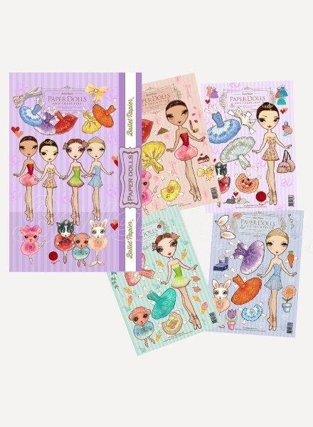 Ballet Papier Ballerinas & Their Pets Paper Dolls