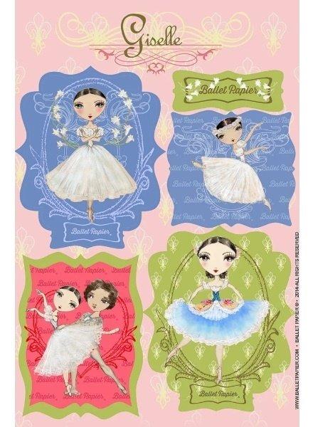 Ballet Papier Giselle Vinyl Stickers
