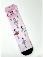 El Petit Ballet Calce Calf-length Socks Colorful Ballerinas