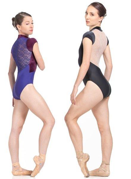 Ballet Rosa Amandine Front Zip Lace Back Leotard