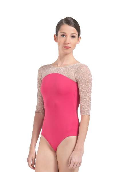 Ballet Rosa Alexia Lace 1/2 Sleeve Leotard