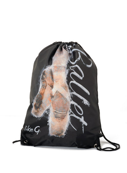 Like G Ballet Drawstring Backpack Black