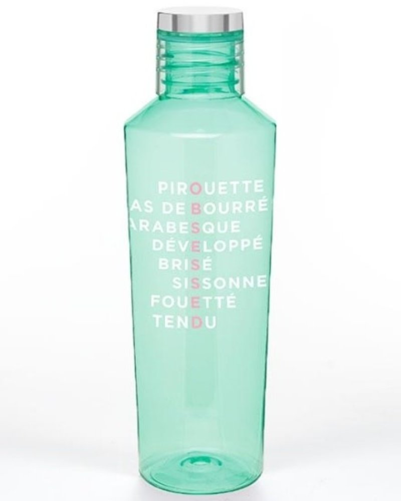 Covet Dance Obsessed Much? Water Bottle Mint Green