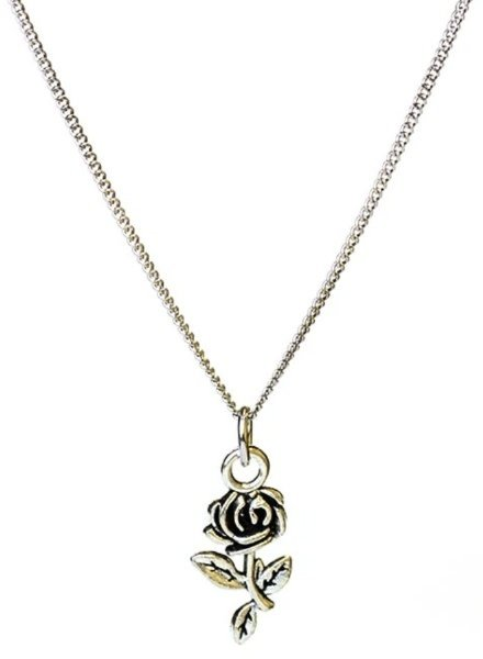 "Covet Dance Recital Rose Necklace w/ 18"" Adjustable Chain"